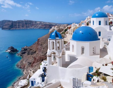 Santorini and Therasia